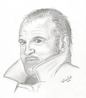 Steven White Drawing - Joe Cocker by Steven White