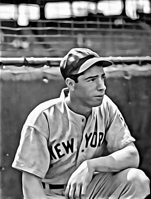 Joe Dimaggio Painting Print by Florian Rodarte