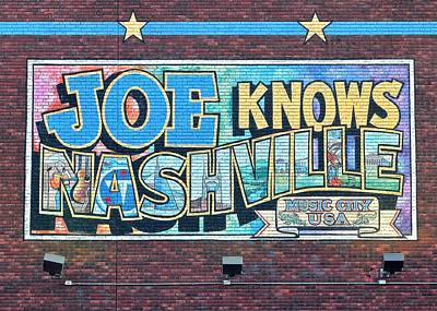 Inner World Photograph - Joe Knows Nashville by Frozen in Time Fine Art Photography