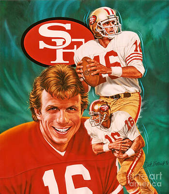Joe Montana Print by Dick Bobnick