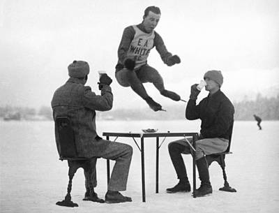 Joe Moore Olympics Training Print by Underwood Archives