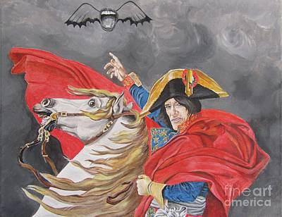 Aerosmith Painting - Joe Perry On Horse by Jeepee Aero