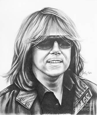 Singer Drawing - Joey Tempest by Lena Auxier