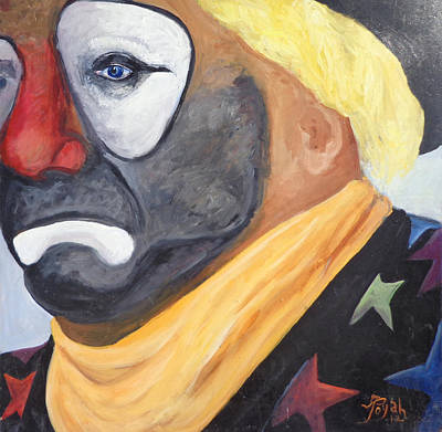 Rodeo Clown Painting - Joey The Rodeo Clown by Toyah Taylor
