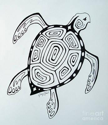 Sea Turtles Drawing - Joey's Sea Turtle by Joey Nash