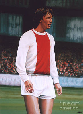 Aztec Painting - Johan Cruijff  by Paul Meijering