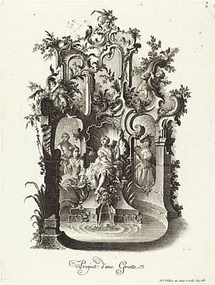 Projects Drawing - Johann Esaias Nilson German, 1721 - 1788 by Quint Lox