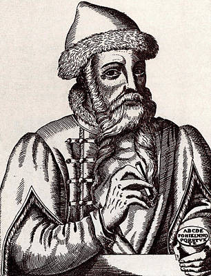 Introduction Photograph - Johann Gutenberg by Universal History Archive/uig
