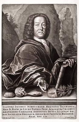 Johann Jakob Scheuchzer, Swiss Print by Paul D. Stewart