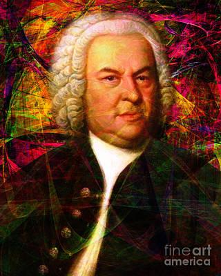 Viola Digital Art - Johann Sebastian Bach 20140126v1 by Wingsdomain Art and Photography