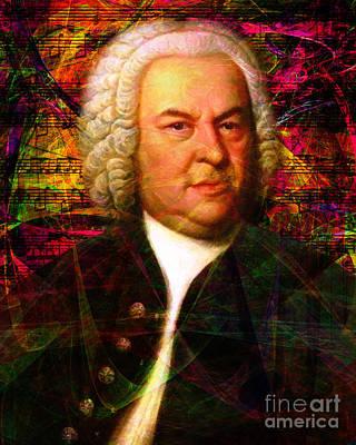 Viola Digital Art - Johann Sebastian Bach 20140126v2 by Wingsdomain Art and Photography