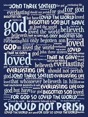 Jesus Christ Digital Art - John 3-16 For God So Loved The World 20130622bwco80 Vertical by Wingsdomain Art and Photography