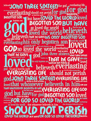 Jesus Christ Digital Art - John 3-16 For God So Loved The World 20130622p120 Vertical by Wingsdomain Art and Photography