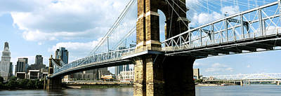 Ohio River Photograph - John A. Roebling Suspension Bridge by Panoramic Images