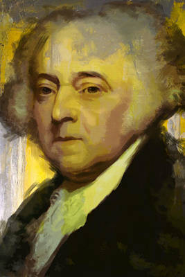 Freedom Party Painting - John Adams by Corporate Art Task Force
