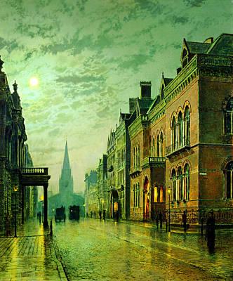 Grimshaw Painting - John Atkinson Grimshaw Park Row Leeds 1882 by MotionAge Designs