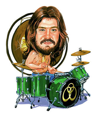 Drummer Painting - John Bonham by Art