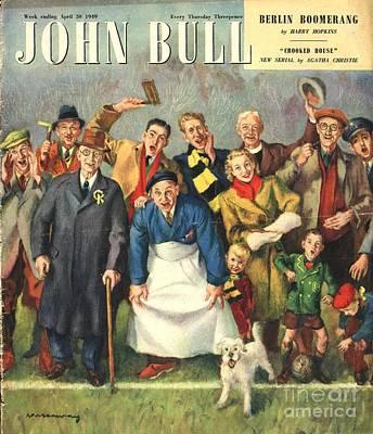 Soccer Drawing - John Bull 1949 1940s Uk Football by The Advertising Archives