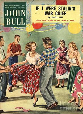 Magazine Cover Drawing - John Bull 1950s Uk  Line Country Square by The Advertising Archives