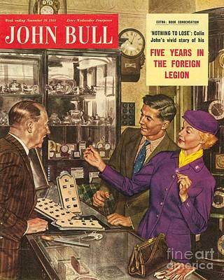 Nineteen-fifties Drawing - John Bull 1950s Uk Love Rings Weddings by The Advertising Archives