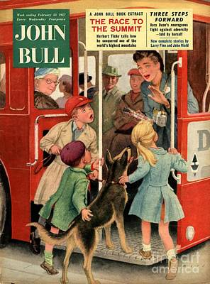 John Bull 1957 1950s Uk Dogs Buses Print by The Advertising Archives