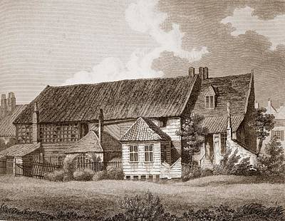 John Bunyans Meeting House, Early 19th Print by English School