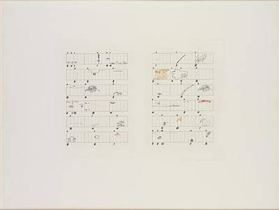 Henry David Thoreau Drawing - John Cage  Score Without Parts by John Cage