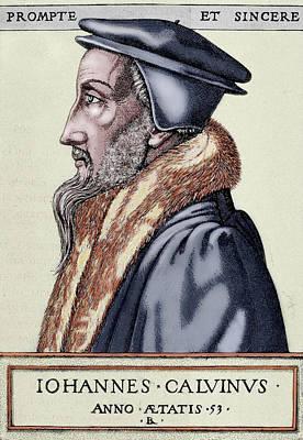 Engraving Photograph - John Calvin (1509-1564 by Prisma Archivo