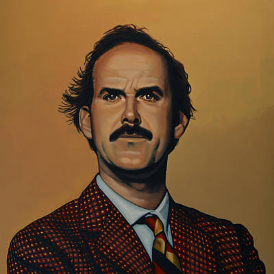 Burmese Python Painting - John Cleese by Paul Meijering