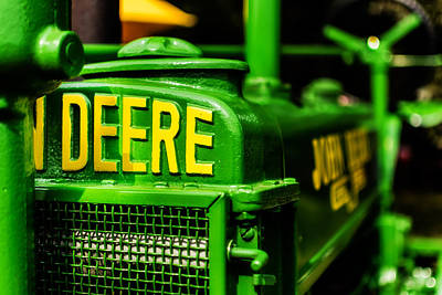 John Deere Tractor Photograph - John Deere 1935 General Purpose Tractor Grill Detail by Jon Woodhams