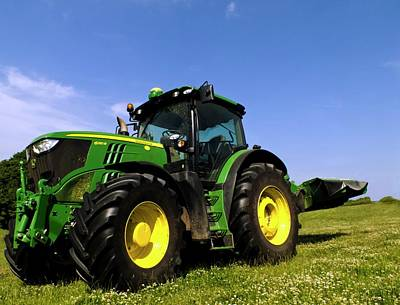John Deere 6210r Tractor Print by Ian Gowland
