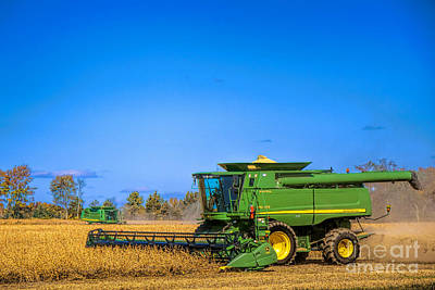 Fall Photograph - John Deere 9770 by Olivier Le Queinec