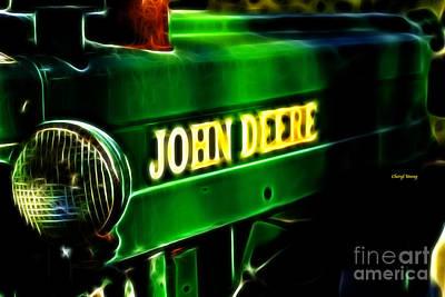 John Deere Tractor Photograph - John Deere by Cheryl Young