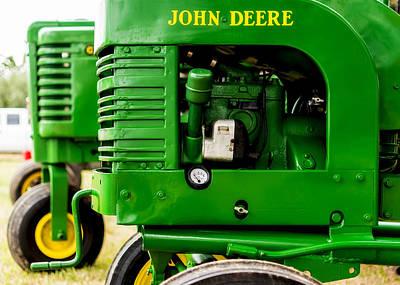 John Deere Tractor Photograph - John Deere Model L With Model G Behind by Jon Woodhams