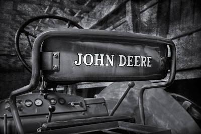 Granger Photograph - John Deere Tractor Bw by Susan Candelario
