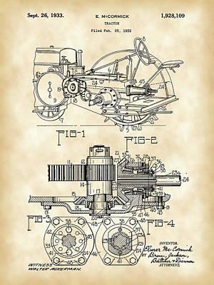 John Deere Tractor Patent 1932 - Vintage Print by Stephen Younts