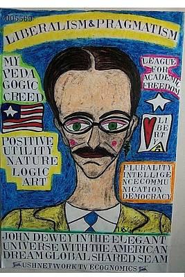 John Dewey In The Elegant Universe With The American Dream Global Shared Seam Original by Francesco Martin