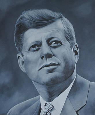 Obama Portrait Painting - John F Kennedy by David Dunne
