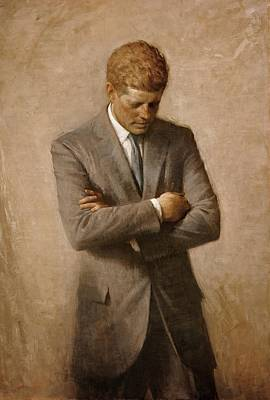 John F Kennedy Official Portrait Print by Celestial Images