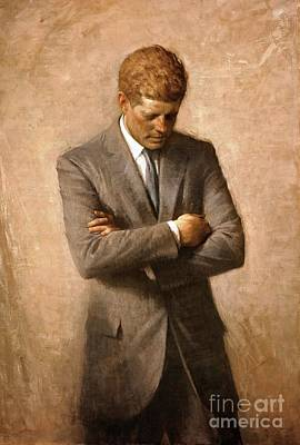 John F Kennedy - Official Portrait Print by Pg Reproductions