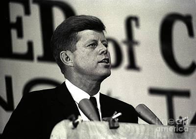 John F. Kennedy Speaking, 1963 Print by Larry Mulvehill