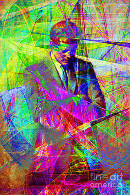 John Fitzgerald Kennedy Jfk In Abstract 20130610 Print by Wingsdomain Art and Photography