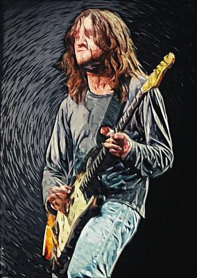 Psychedelic Rock Digital Art - John Frusciante by Taylan Soyturk