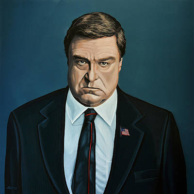 John Goodman Print by Paul Meijering