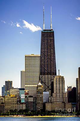 John Hancock Center Building In Chicago Print by Paul Velgos