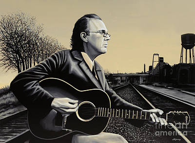 John Hiatt Painting Print by Paul Meijering