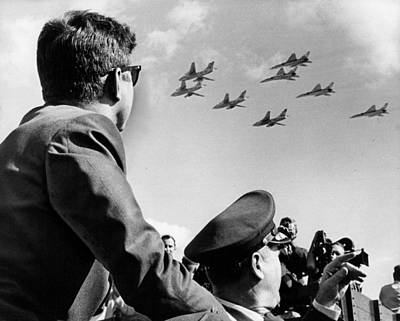Camelot Photograph - John Kennedy - Trip To Miami Week Before His Death. Nov 1963 by Retro Images Archive
