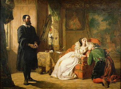 Crucifix Painting - John Knox Reproving Mary, Queen by William Powell Frith