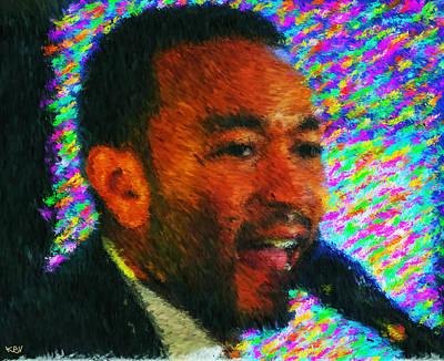 John Legend Print by Kevin Rogerson
