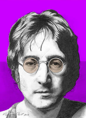 John Lennon Drawing - John Lennon - Individual Purple by Alexander Gilbert